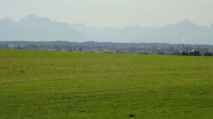 My first glimpse of the Alps