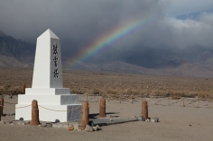 Marker at Japanese Cemetery at Manzanar