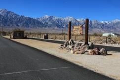 Entrance to Manzanar War Relocation Center