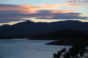 Sunset over Shasta Lake