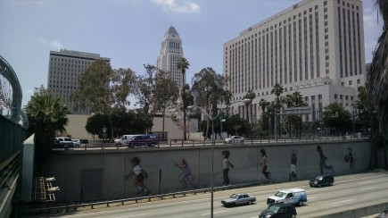 Los Angeles City Hall and U.S. 101 Murals