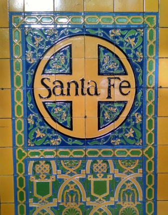 Tilework inside the Santa Fe Depot