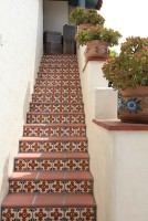 Ceramic tiled stairs
