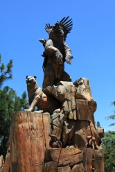 Log carving in Idyllwild