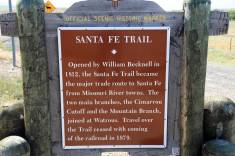 Santa Fe Trail marker on U.S. 64