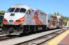 Rail Runner commuter rail service to Albuquerque