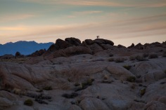 Hikers enjoying Alabama Hills