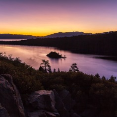 Sunrise over Emerald Bay, Lake Tahoe