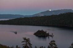 Moonrise over Emerald Bay, Lake Tahoe