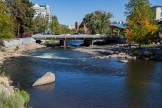 River Walk along the Truckee River in Reno, Nevada