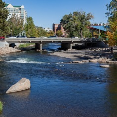 River Walk along the Truckee River in Reno, Nevada