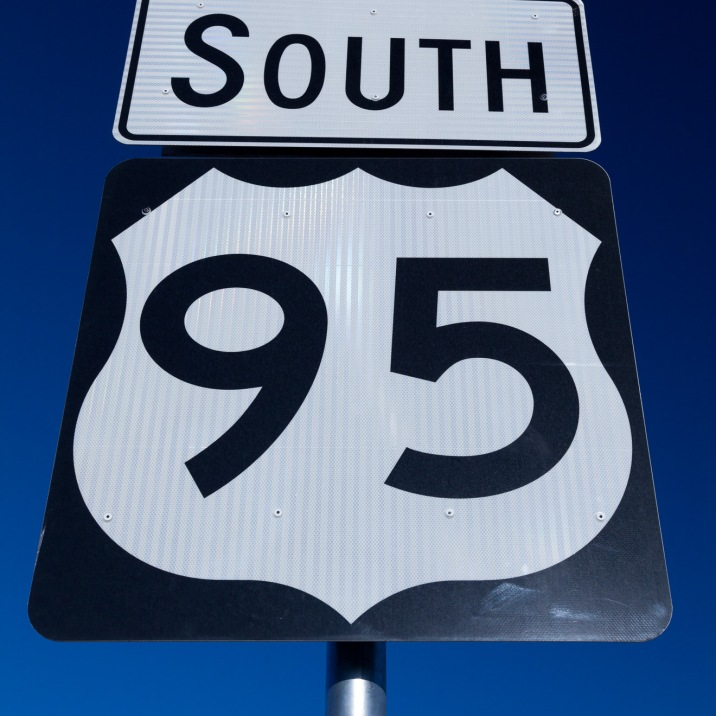 Coloring U.S. 95 on the map