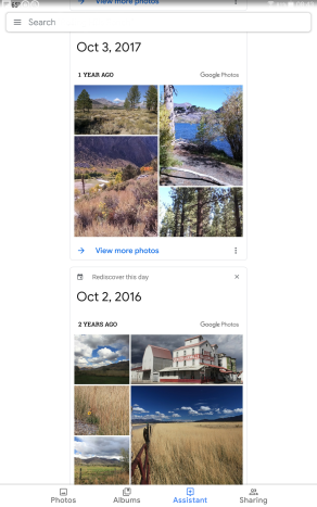Google Memories October 2018