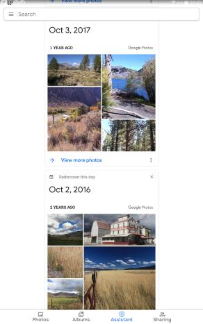Google Memories October 2018