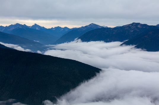 Olympic Range and Clouds