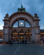 Gate to the train station in Luzern, Switzerland
