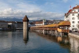 Kappelbrücke in Luzern, Switzerland