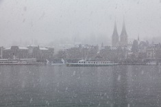 Snowing in Luzern in April.