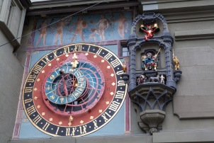 Clock tower in Bern.