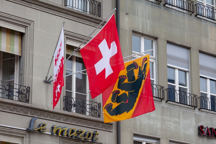 The flags of Bern