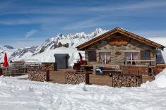 Little restaurant on the summit of Eggishorn