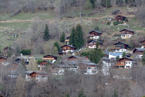 Homes on the outskirts of Fiesch