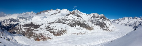 The Aletsch Glacier from Bettmerhorn
