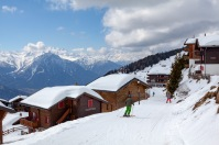 Commuting on skis in Bettmeralp